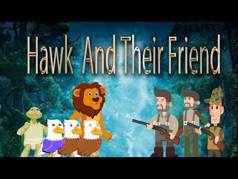 Fairy Tales Movie - Hawk And Their Friend Cartoon -Bedtime stories