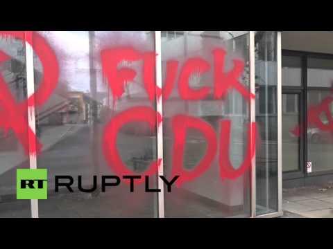 Germany: 'F*ck CDU' - Vandals hit German govt. offices in Stuttgart