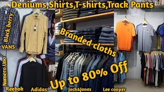 80% Discount on Branded cloths   Deniums, shirts, T-shirts Discount REEBOK, JACK&JONES, ADIDAS