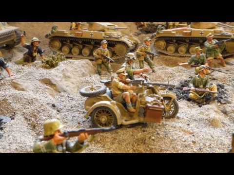 Afrika Korps defeats British 8th Army- Diorama of The Battle of Tobruk- video Youtube
