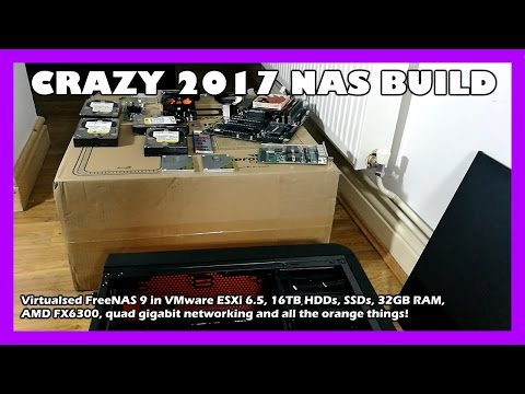 Crazy 16TB 2017 Home NAS Build // FreeNAS, ESXi, iSCSI