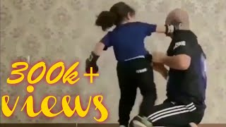 Little girl practice(boxing) with her coach|720P FULL HD|KP OFFICIAL YOUTUBER
