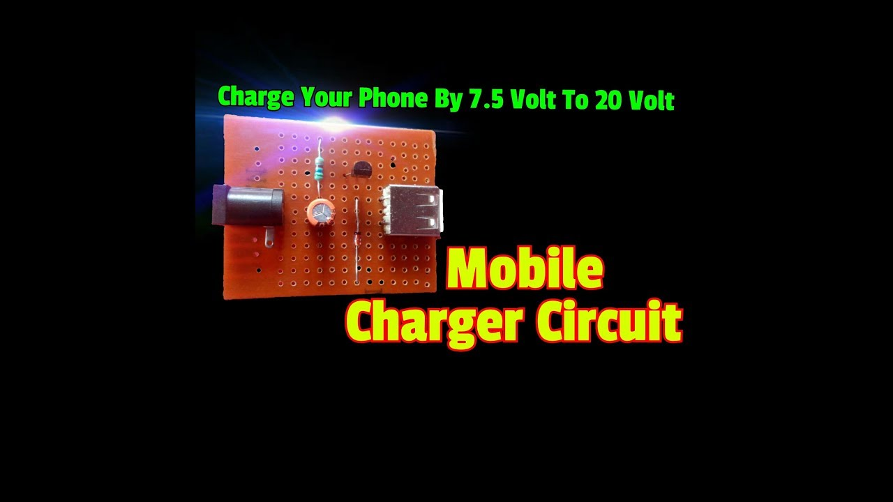 how to make mobile charger circuit  simple mobile phone