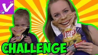Обычная Еда против Чипсов Челлендж! Challenge Real Food vs Gummy Food! Kid React