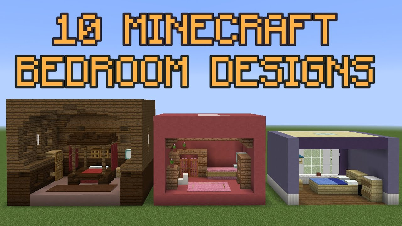 10 minecraft bedroom designs youtube for Bedroom ideas on minecraft