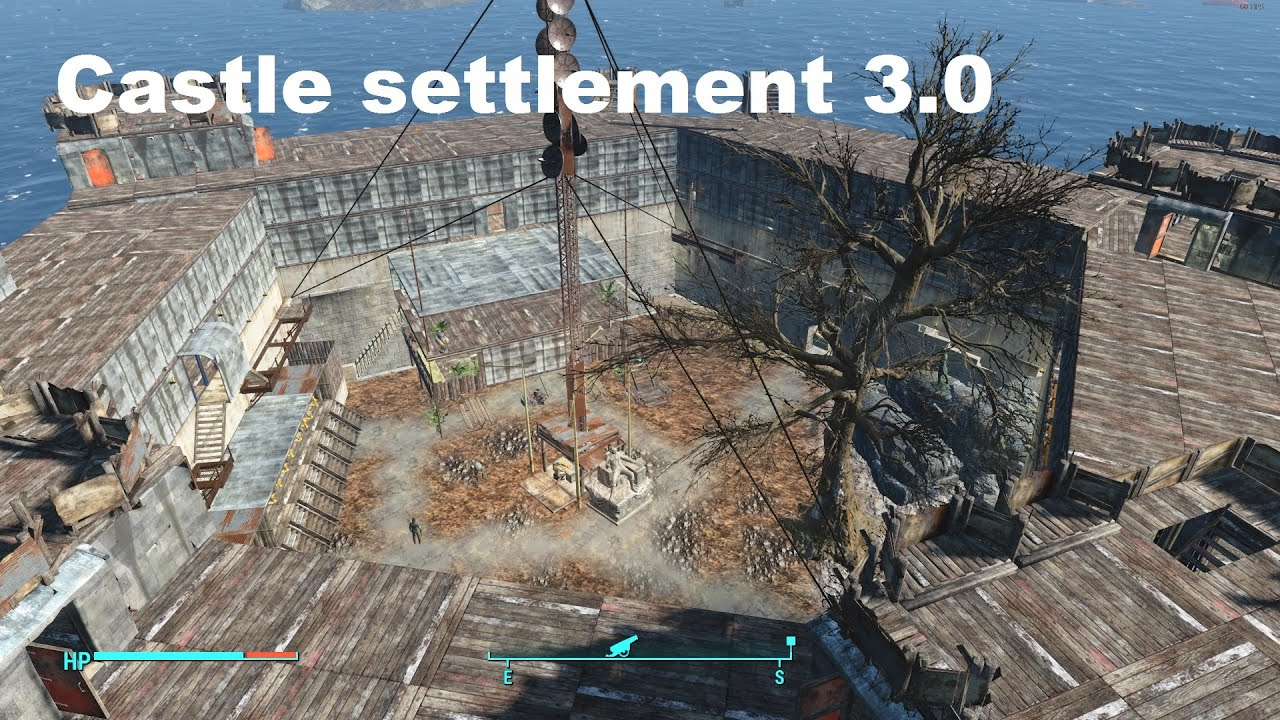 fallout 4 castle base 3.0 - youtube