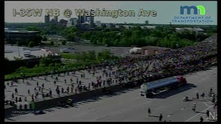 RAW: Semi truck drives into George Floyd protesters on I-35W in Minneapolis