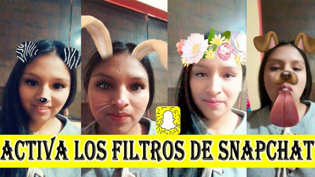 Como activar los filtros y efectos de snapchat 2018 youtube for Editor de fotos efectos