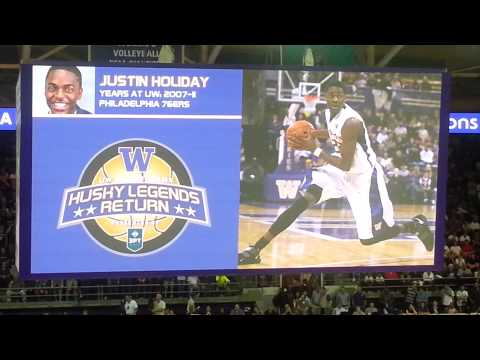 2013 UW Husky Legends Return Alumni Basketball Intros (History and current status) video three