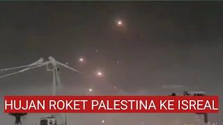 ROKET PALESTINA SERANG ISRAEL || TEL AVIV DI BOM BARDIR ROKET HAMMAS