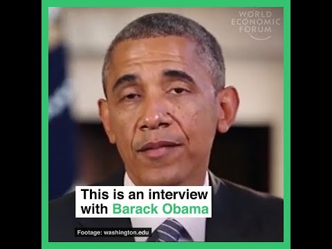 This is an interview with Barack Obama But it