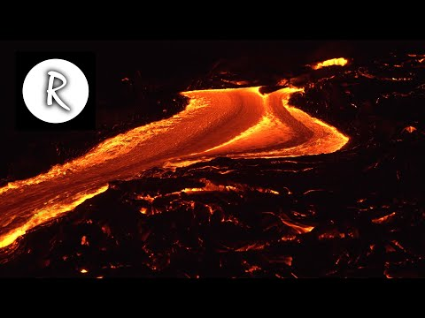10-hours-lava-flow,-kilauea-hawaii-🌋-4k---natural-sounds-|-for-sleep-&-stress-relief,-lava-river