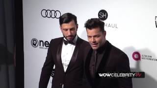 Ricky Martin arrives to Elton John Oscar Party 2017