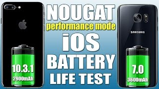 iPhone 7 Plus vs Galaxy S7 Edge: Nougat Battery Life/Drain Test!  (Galaxy S8 Plus you