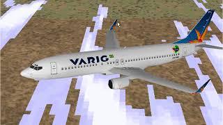 Microsoft Flight Simulator 98 | Brasilia to Rio De Janeiro | Varig 737-800