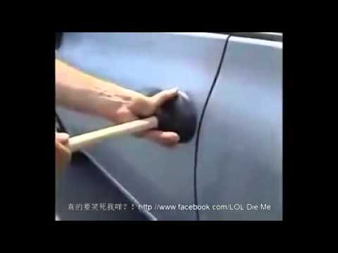 Locked keys inside car how to open door