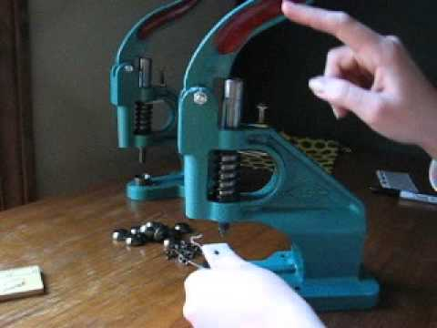 How to Set Large Rivets with Hand Press Machine Setter Tool DIY