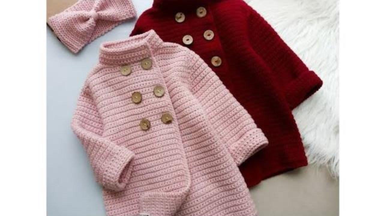 حصري جاكت كروشية شتوي لأي مقاس  How to Make Trench Coat Crochet/ قناة كروشية يوتيوب
