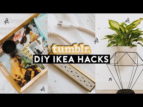DIY IKEA HACKS - Tumblr Inspired Room Decor Ideas (2018) // Lone Fox