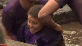 Brave Paraplegic Takes On The Royal Marines Sheep Dip