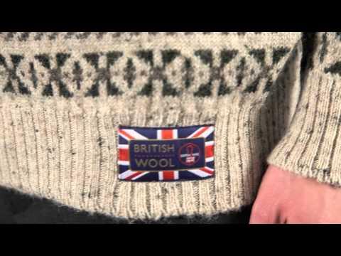 Men's 100% British Wool Crew Neck Fairisle Pattern Pullover