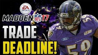 Madden 17 Baltimore Ravens Franchise Mode: Trade Deadline! Ep 13 PS4