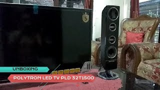 Unboxing Polytron LED TV PLD32T1500