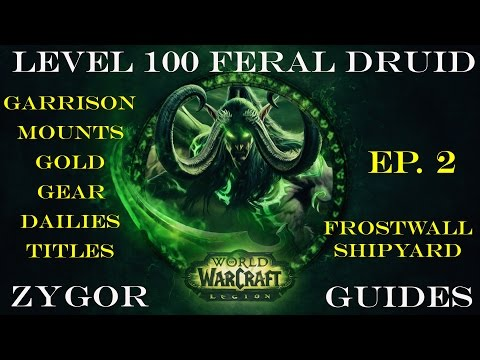 World of Warcraft 100 Boost Druid - EP. 2 - Frostwall Shipyard - Zygor Guides