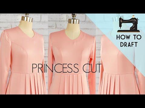 how to cut princess dart
