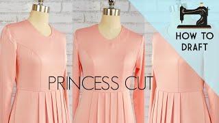 How to Draft Princess Dart | Dart Manipulation Techniques | Princess Dress