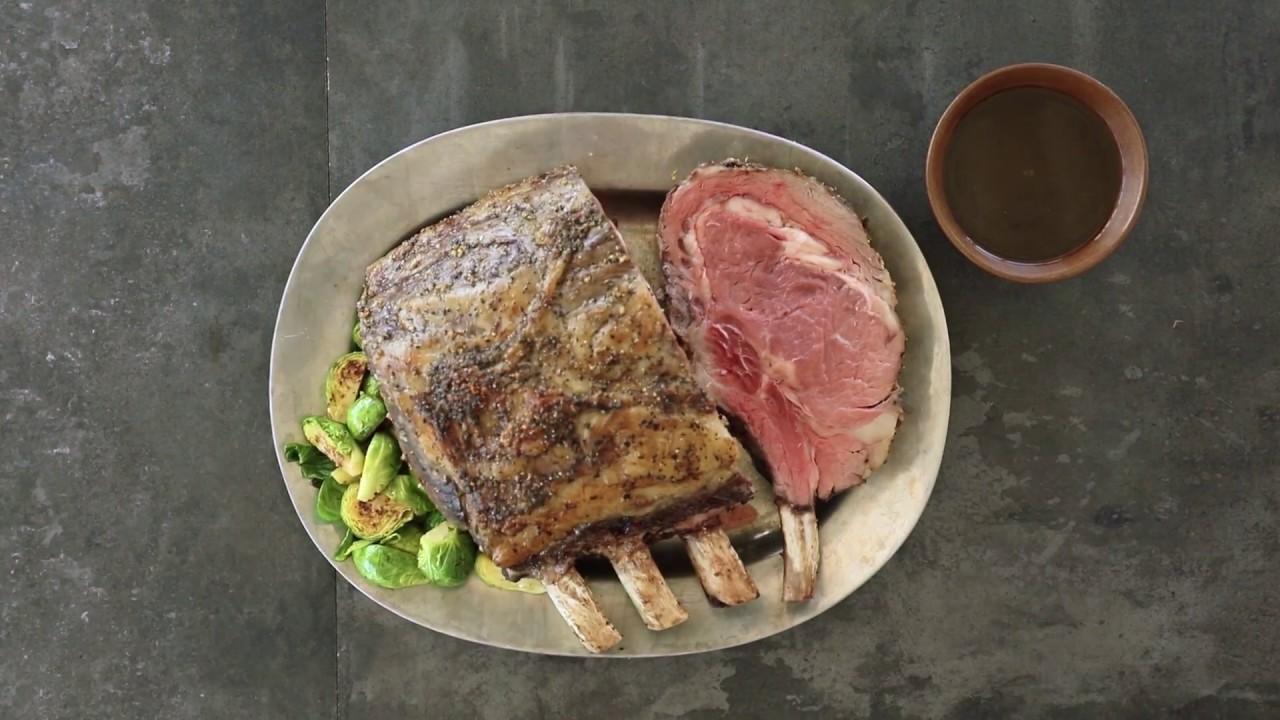 Prime Rib Roast With Rosemary Thyme Au Jus Youtube