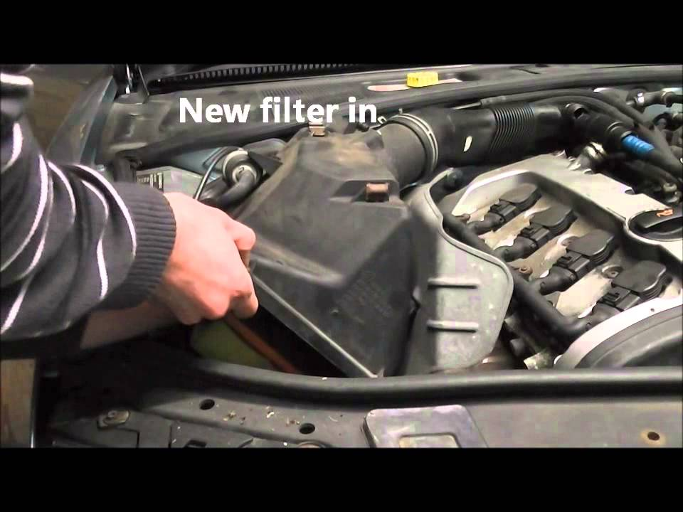 Volkswagen Passat Air Filter Change - YouTube