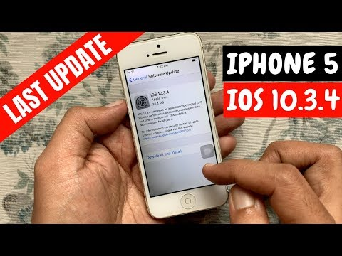 UPDATE IPhone 5 TO IOS 10.3.4