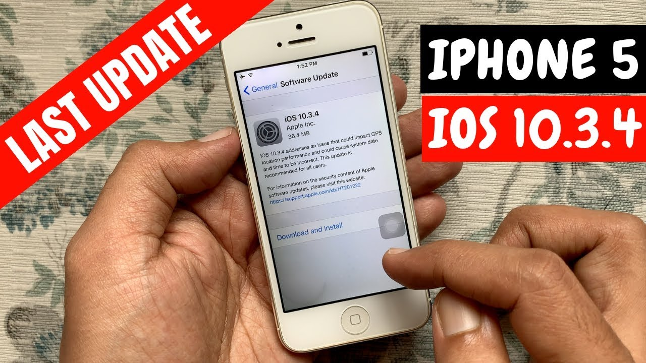 Update Iphone 5 To Ios 10 3 4 Youtube