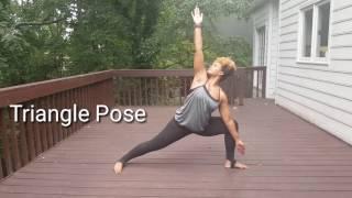 Triangle Pose - SheLean Lifestyle - Syleena Johnson