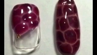 【ネイルアート】クロコダイルネイルの簡単な塗り方♪ how to nail art