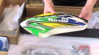 Trex 600N DFC unboxing (Remote Controlled Nitro Helicopter)