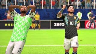 World Cup 2018 Nigeria vs Argentina - Group D Full Match Sim (FIFA 18)