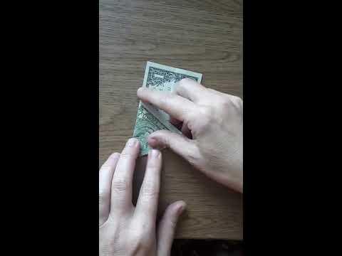 Как свернуть доллар треугольником для привлечения денег