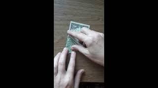 Как сложить доллар треугольником.  Магия денег. Привлекаем деньги. Видео ютуб.