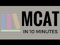 THE MCAT SUMMARIZED IN 10 MINUTES (TIPS & TRICKS!)