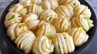 早餐别吃包子了,教你简单做葱香生煎花卷,一面蒸一面煎,超好吃 【三丰美食】