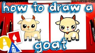 How To Draw A Cute Cartoon Goat