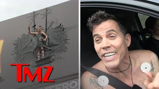 Steve-O Duct Tapes Himself to Hollywood Billboard to Promote Project | TMZ