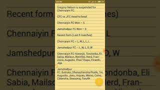 CFC vs JFC Dream11 Football Team Prediction   Chennaiyin FC vs Jamshedpur FC   dream11 football team