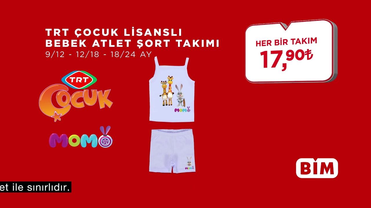 BİM - Beyaz Bebek Body ve TRT Çocuk Lisanslı Bebek Atlet Şort Takımı