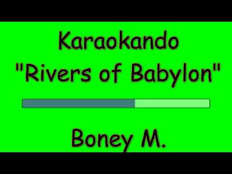 Karaoke Internazionale - Rivers Of Babylon - Boney M. ( Lyrics )