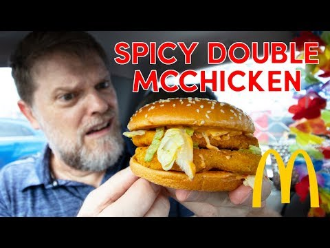 McDonalds Spicy Double McChicken Review - Greg's Kitchen