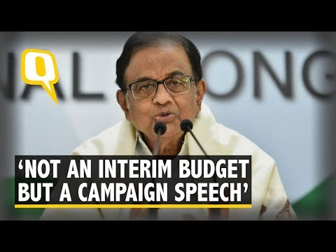 Not An Interim Budget, But a Full-Fledged One With Campaign Speech: Chidambaram