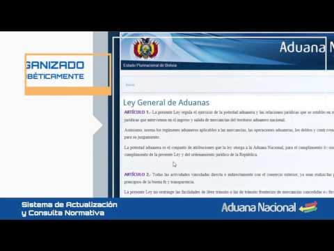 VIDEO SISTEMA DE ACTUALIZACIÓN Y CONSULTA NORMATIVA-SACN